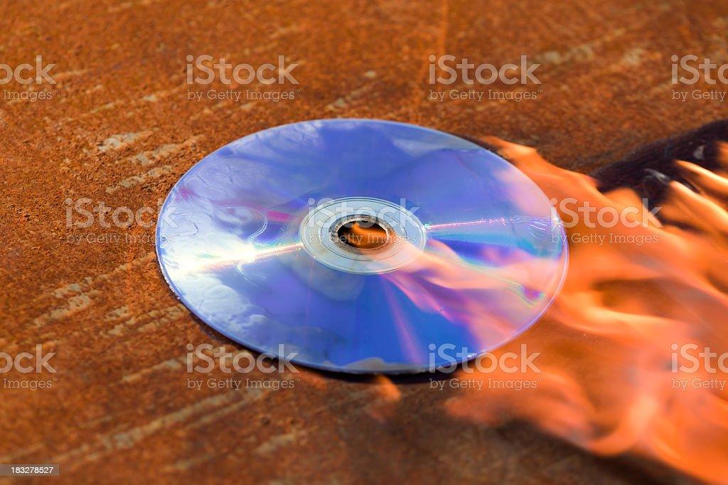 DVD / CD burning stock photo