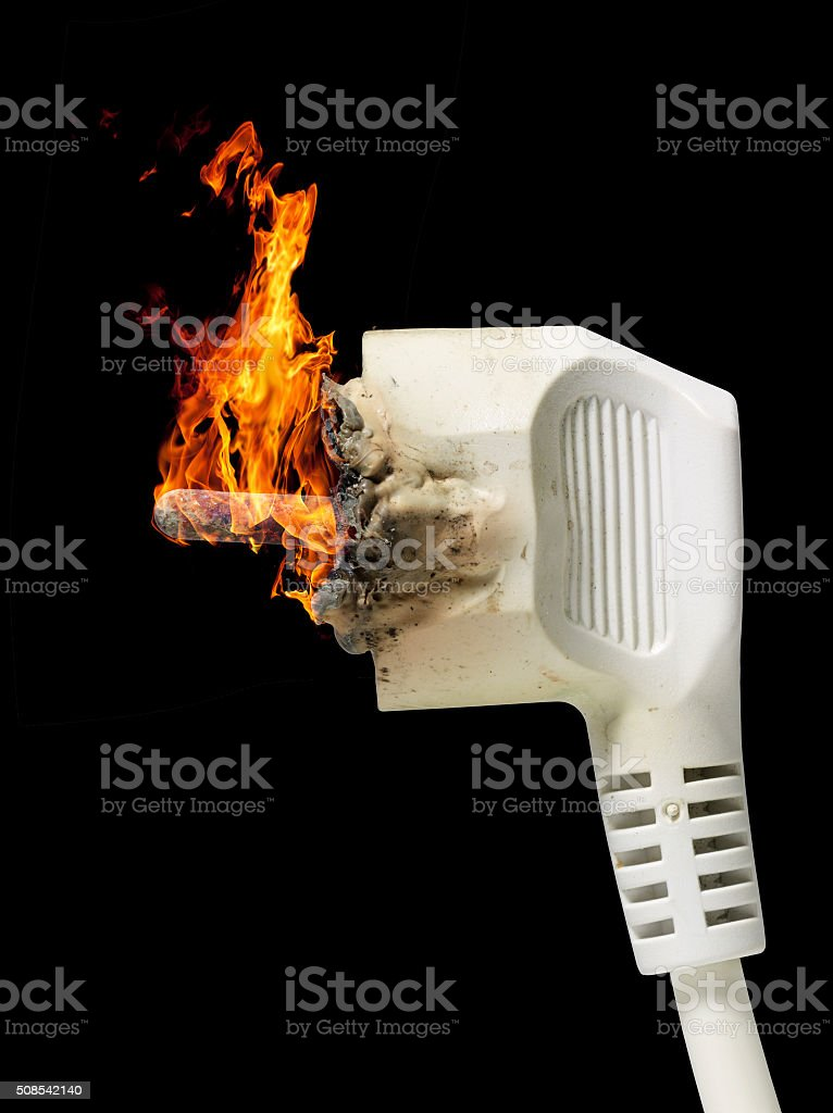 burning plug stock photo