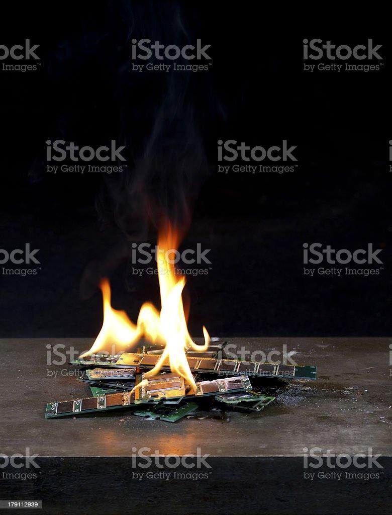 burning RAM royalty-free stock photo