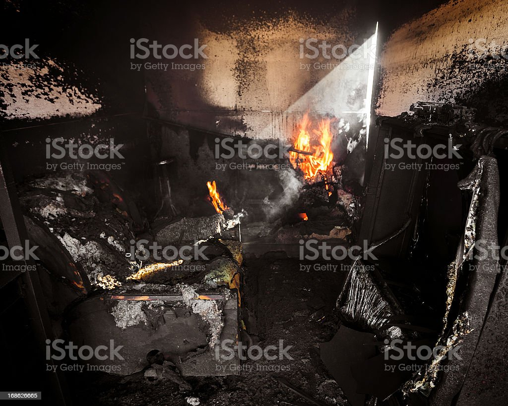 Burning Room royalty-free stock photo