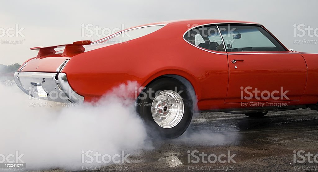 Burning Rubber! royalty-free stock photo