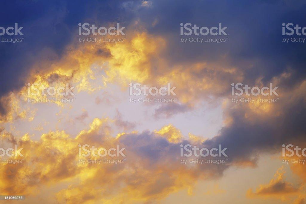 Burning Sky royalty-free stock photo