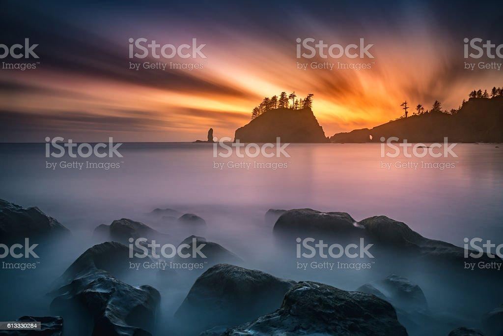 Burning sky stock photo