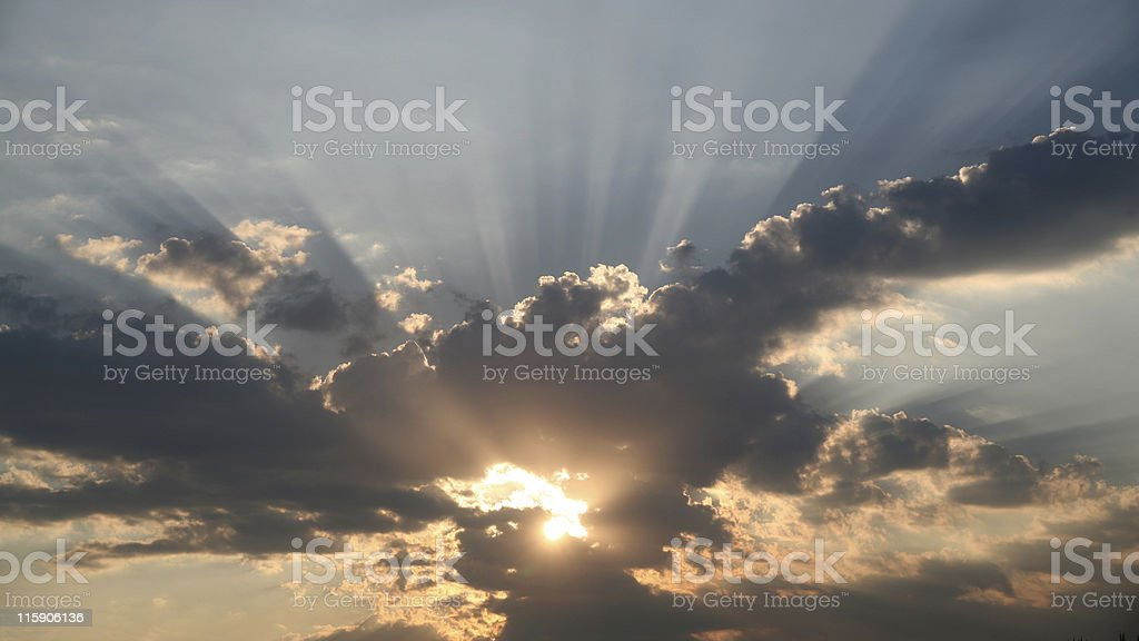 Burning sky - unfiltered royalty-free stock photo