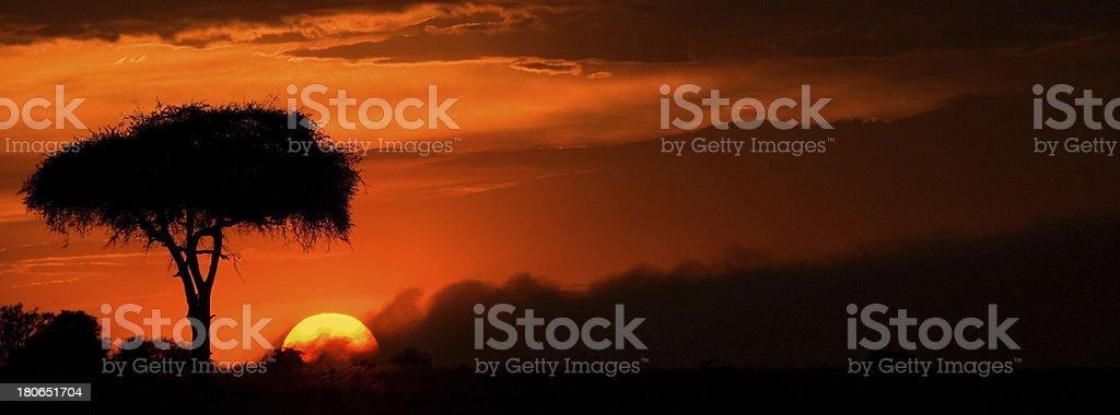 Burning Sunset royalty-free stock photo