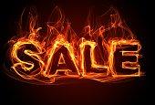 Burning text - Sale