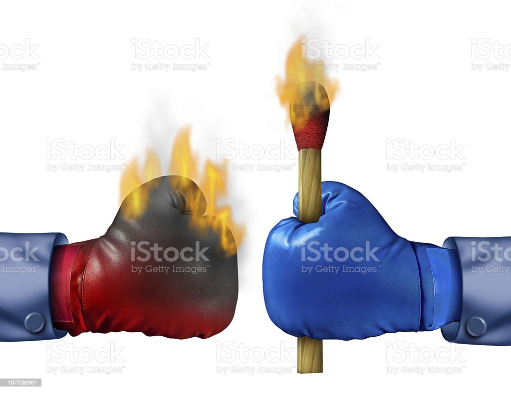 Burning The Competition royalty-free stock photo