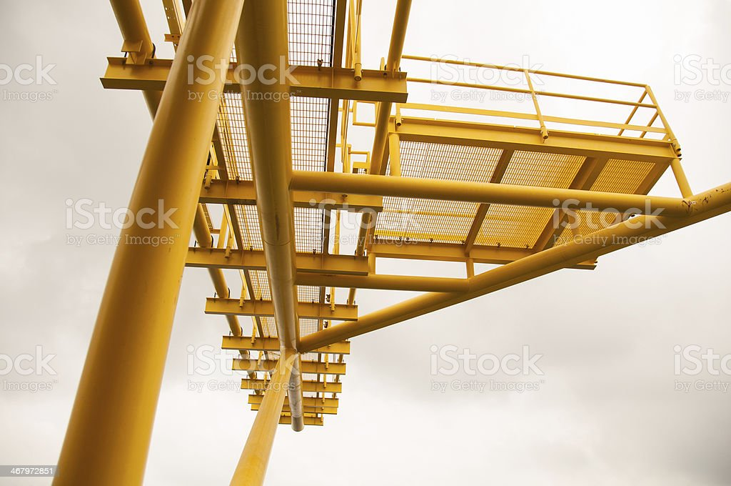 Burning the gas or oil at Flare station royalty-free stock photo