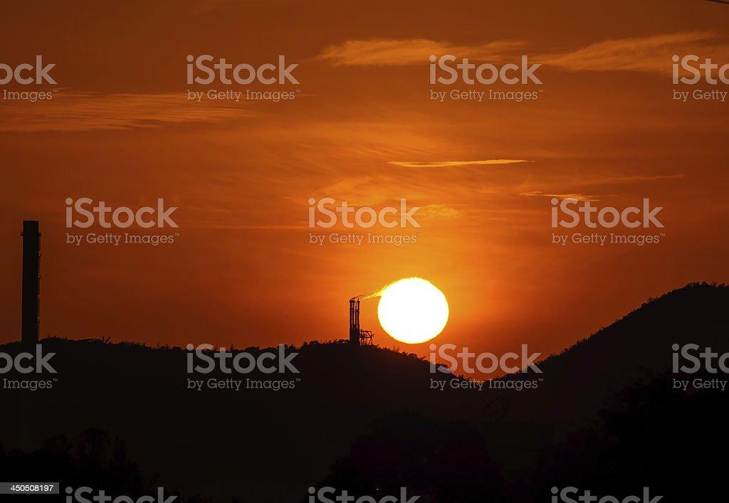 burning the sun royalty-free stock photo