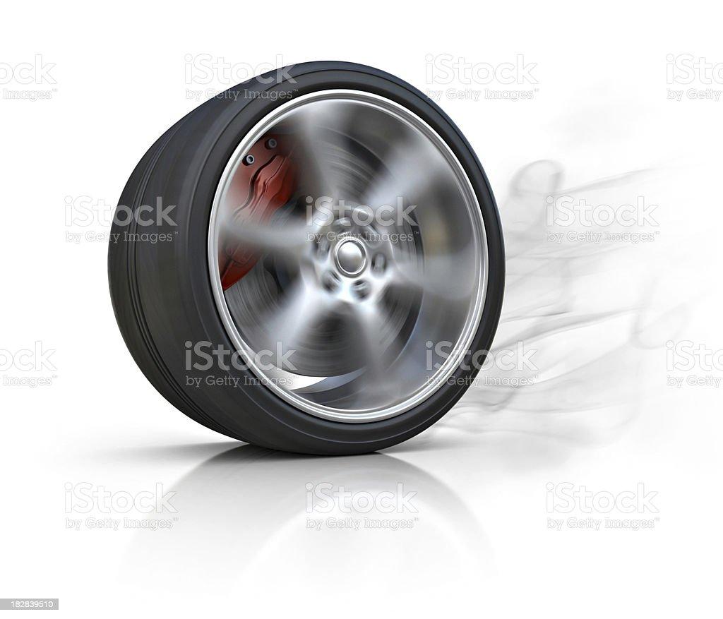 burning tire royalty-free stock photo
