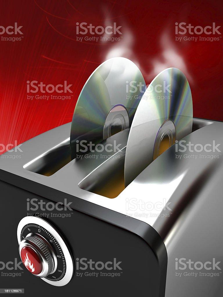 DVD burning toaster stock photo