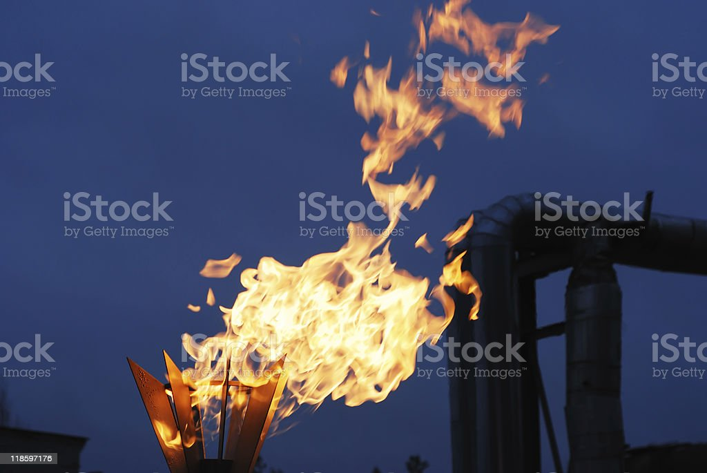 burning torch royalty-free stock photo