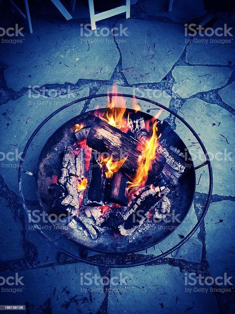 Burning Wood Cross-Process Xpro royalty-free stock photo