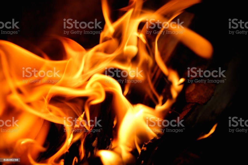 Burning Wood Fireplace Background stock photo 648460288 | iStock