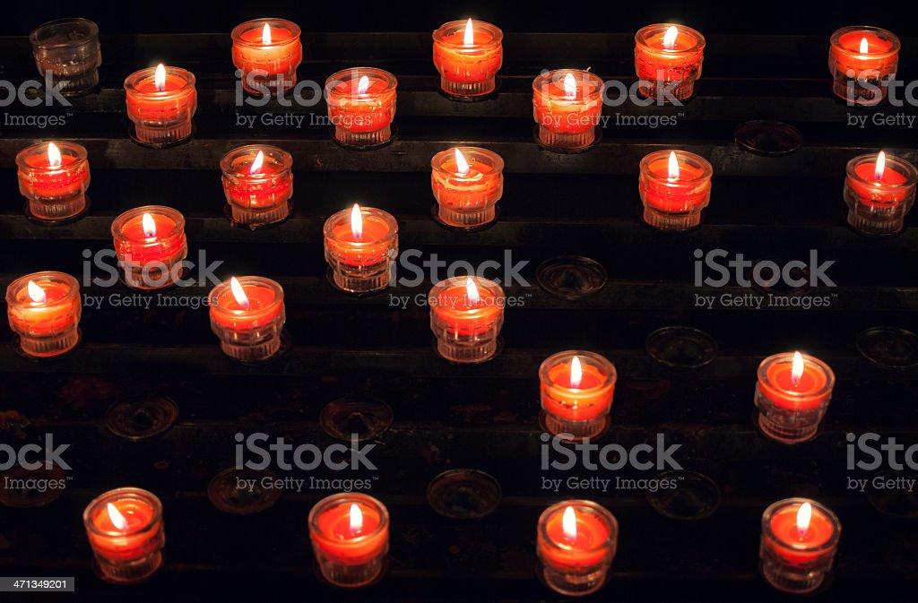 Burning X-Mas candles royalty-free stock photo