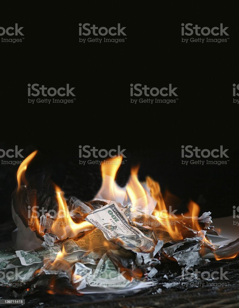 burningmoney003 stock photo
