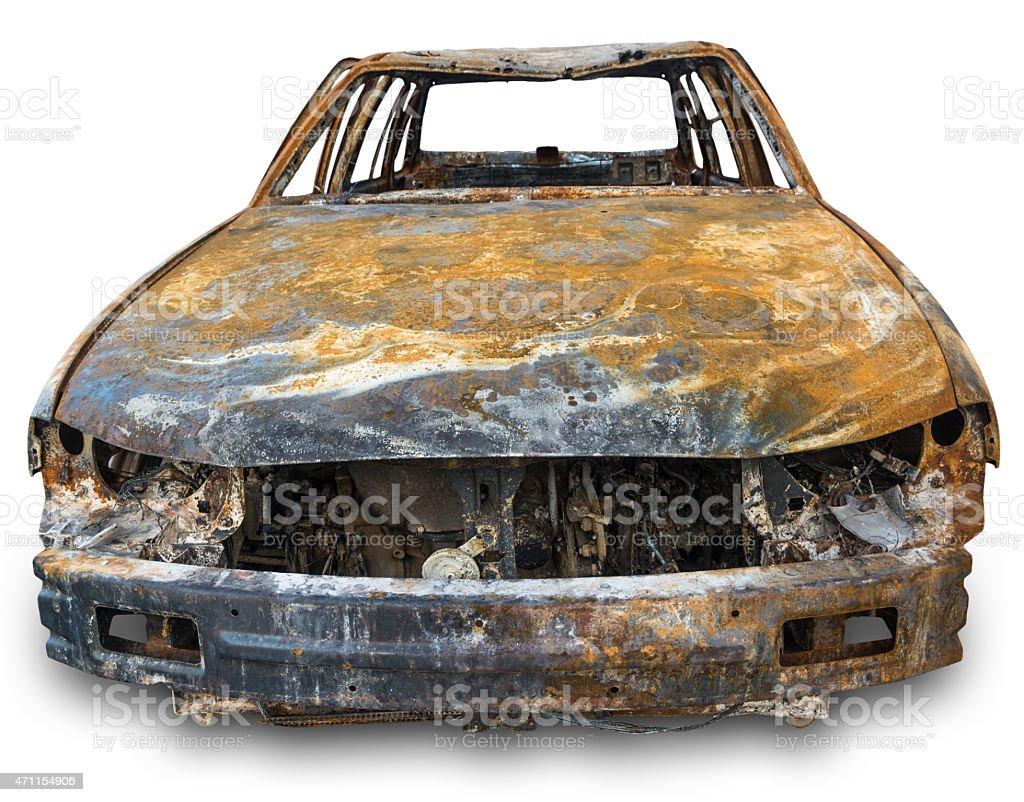 burnout car stock photo