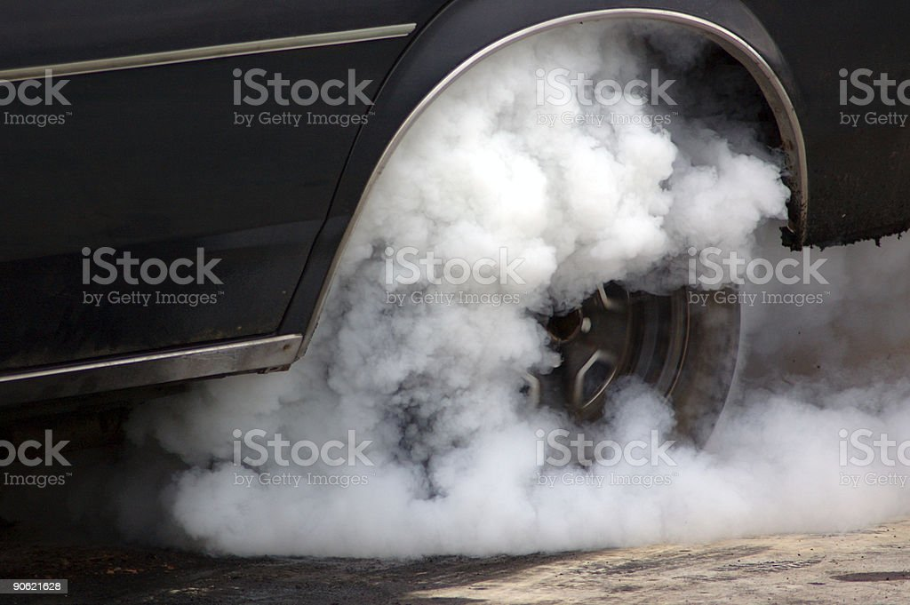 Burnout Competition royalty-free stock photo
