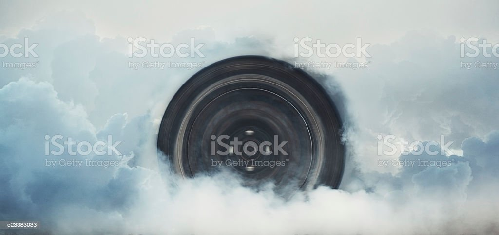 Burnout in the Sky stock photo
