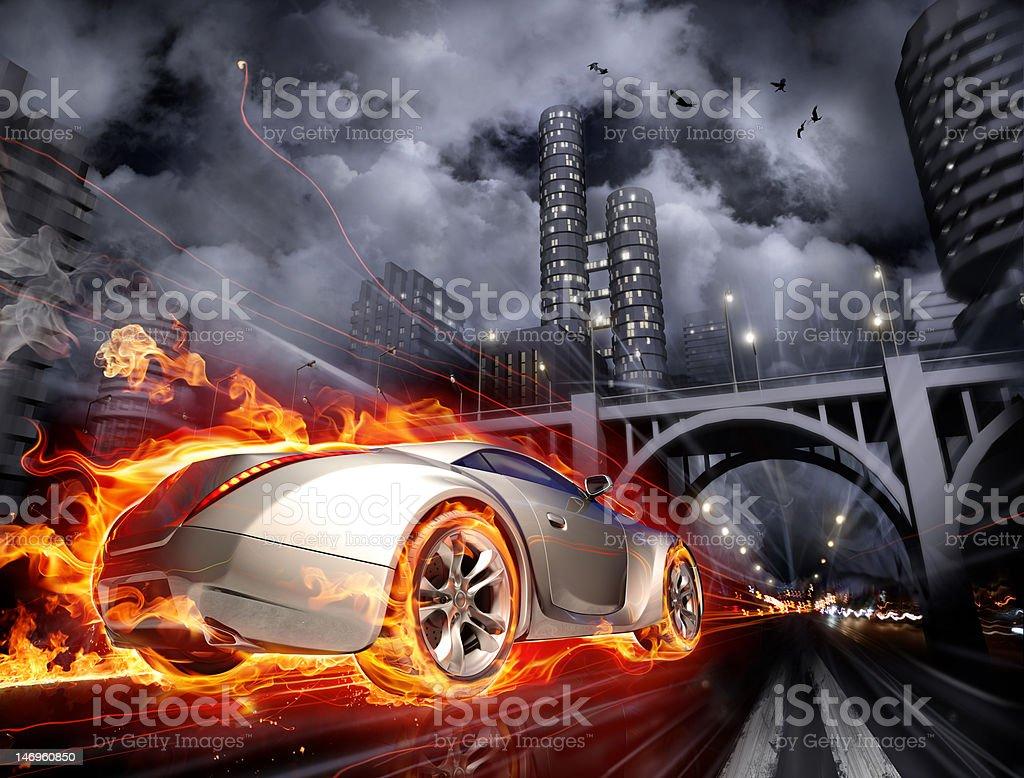 Burnout royalty-free stock photo
