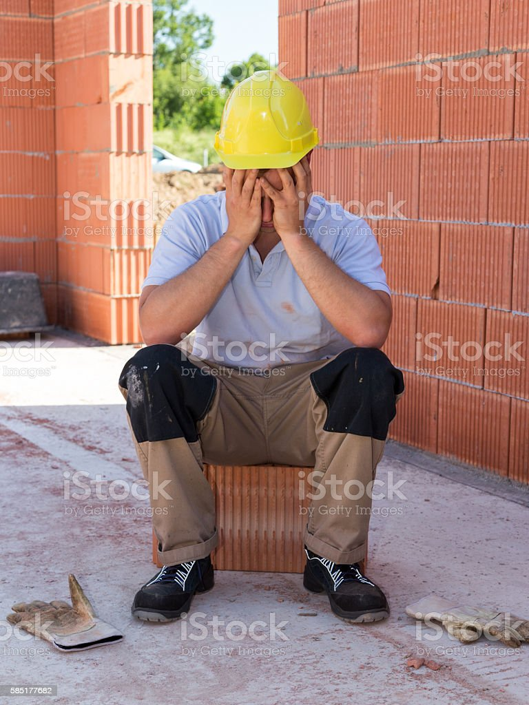 Burnout stock photo