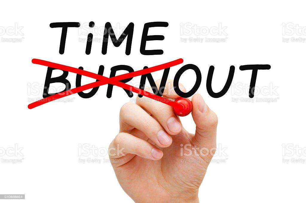 Burnout Timeout Concept stock photo