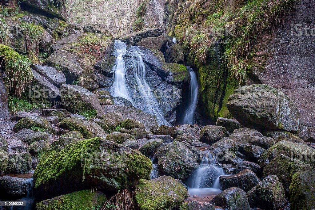 Burn'o'vat Waterfall stock photo