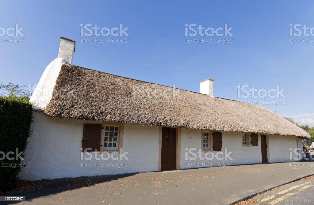 Burns Cottage, Alloway, Ayrshire. stock photo