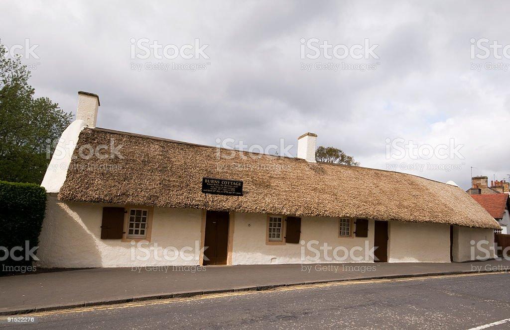 Burns Cottage, Alloway, Ayrshire, Scotland. stock photo