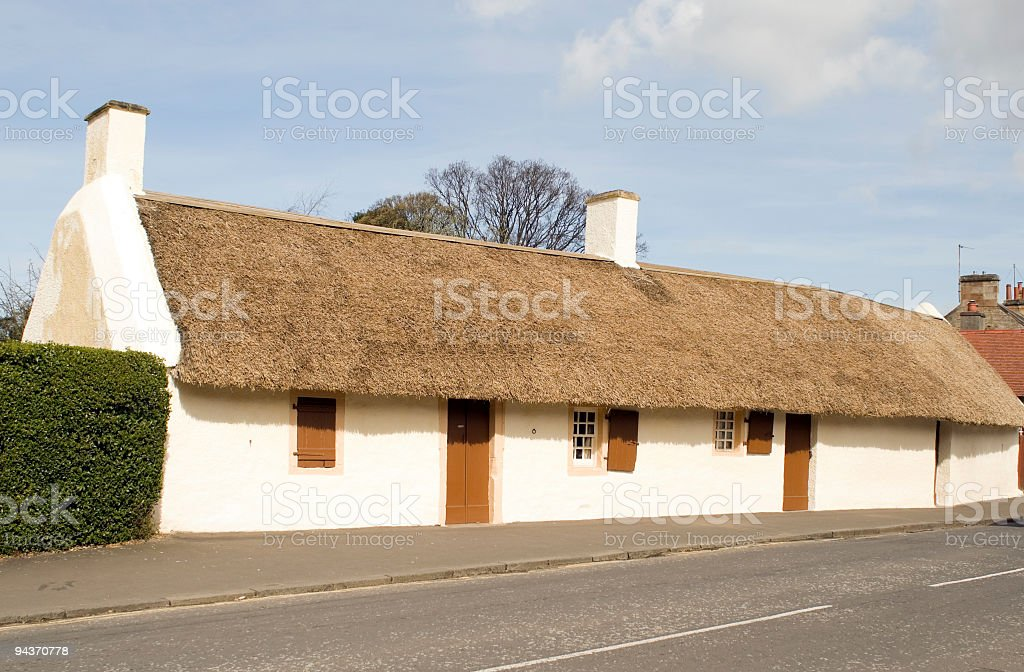 Burns Cottage stock photo