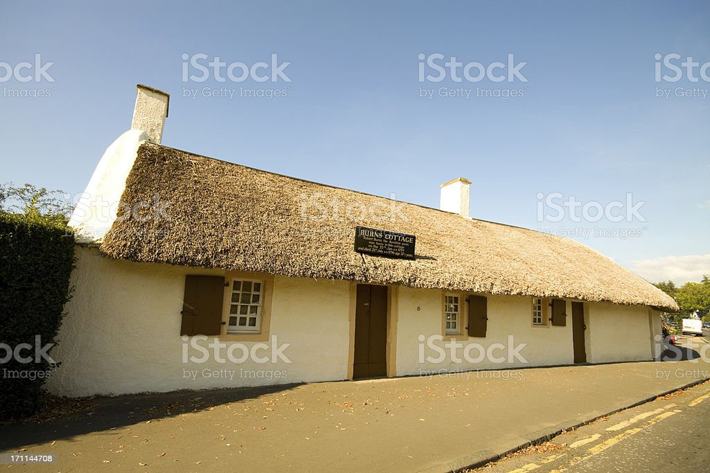 Burns Cottage, Scotland. stock photo