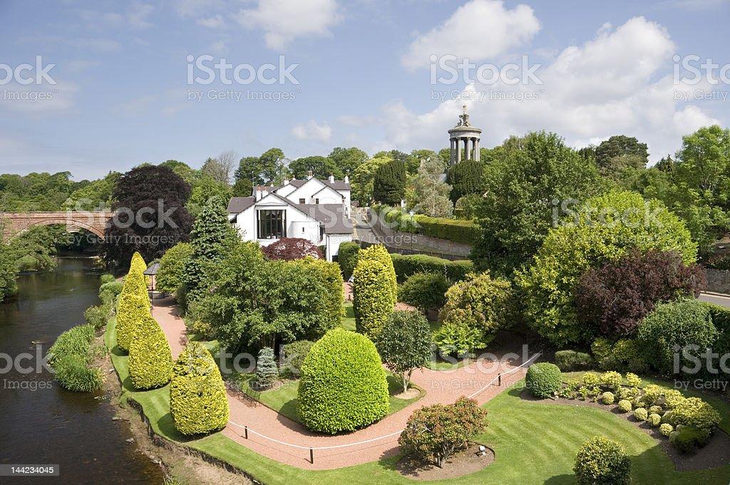 Burns memorial garden stock photo