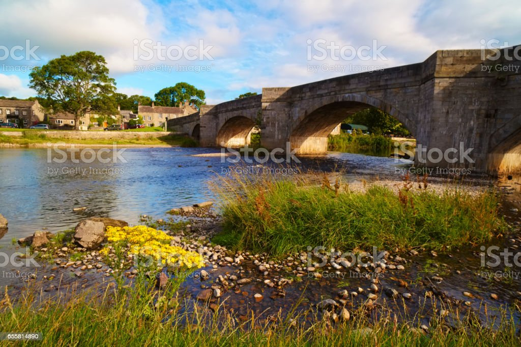 Burnsall Bridge In The Yorkshire Dales stock photo