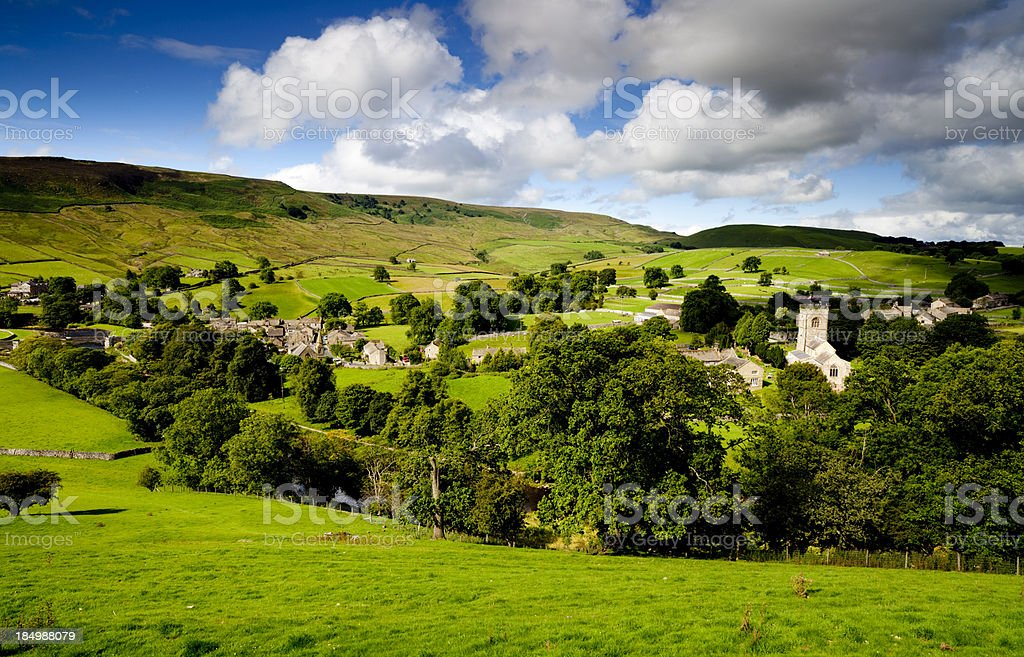 Burnsall Village Yorkshire Dales royalty-free stock photo