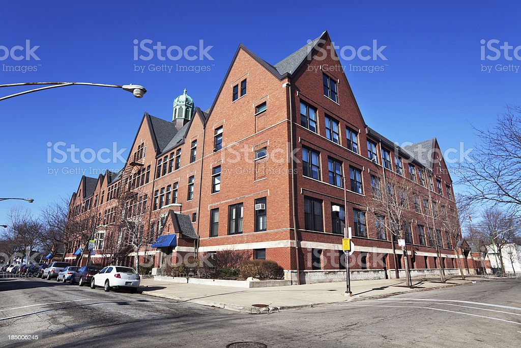 Burnside Scholastic Academy in Chatham, Chicago stock photo