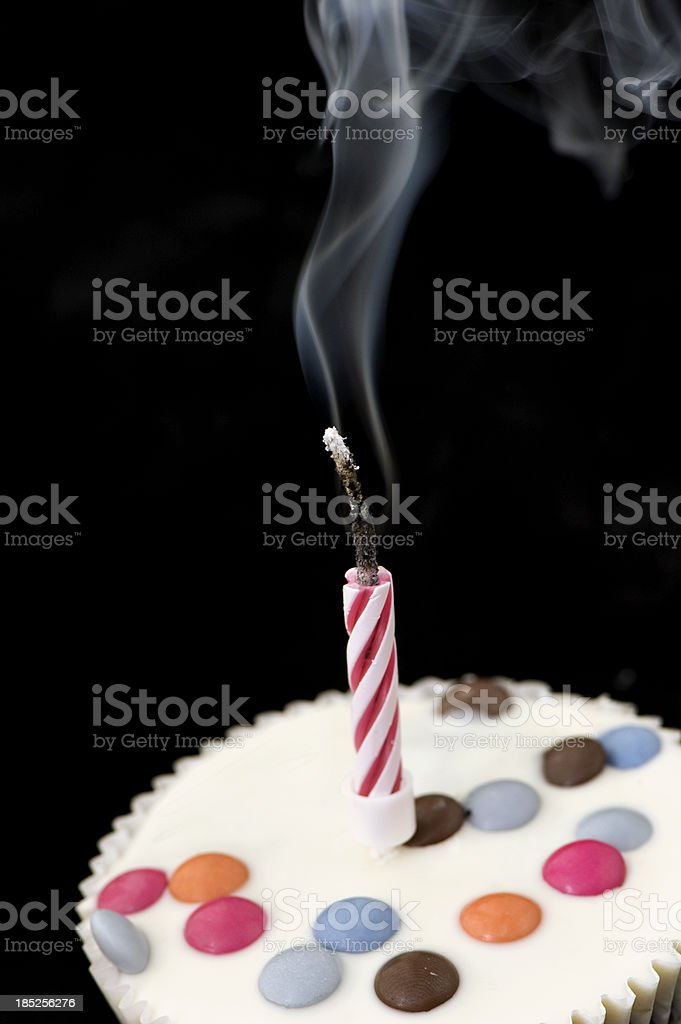 Burnt Birthday Candle royalty-free stock photo