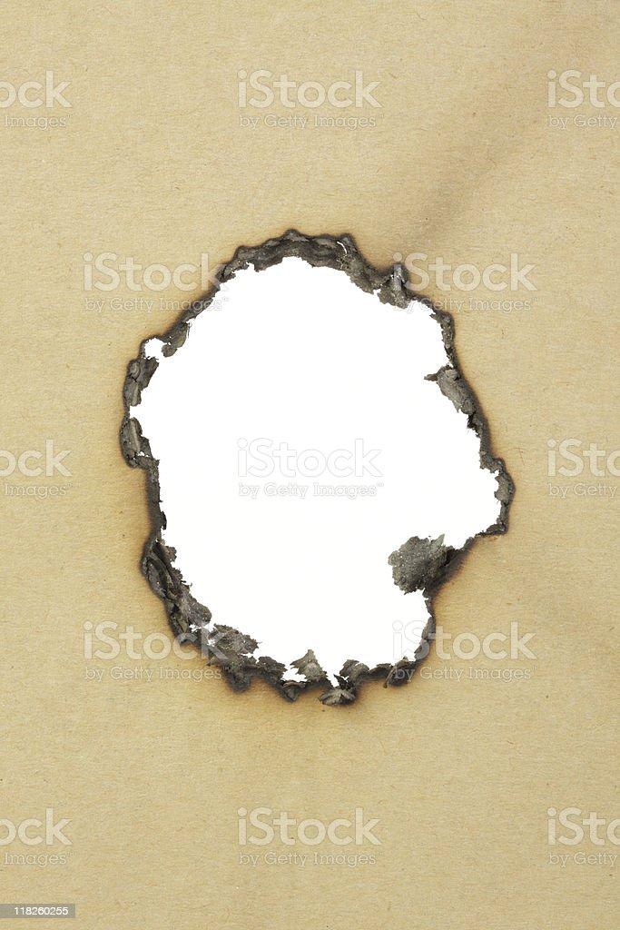 Burnt cardboard. royalty-free stock photo