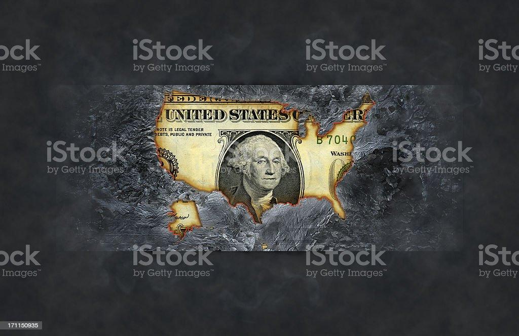 Burnt dollar royalty-free stock photo