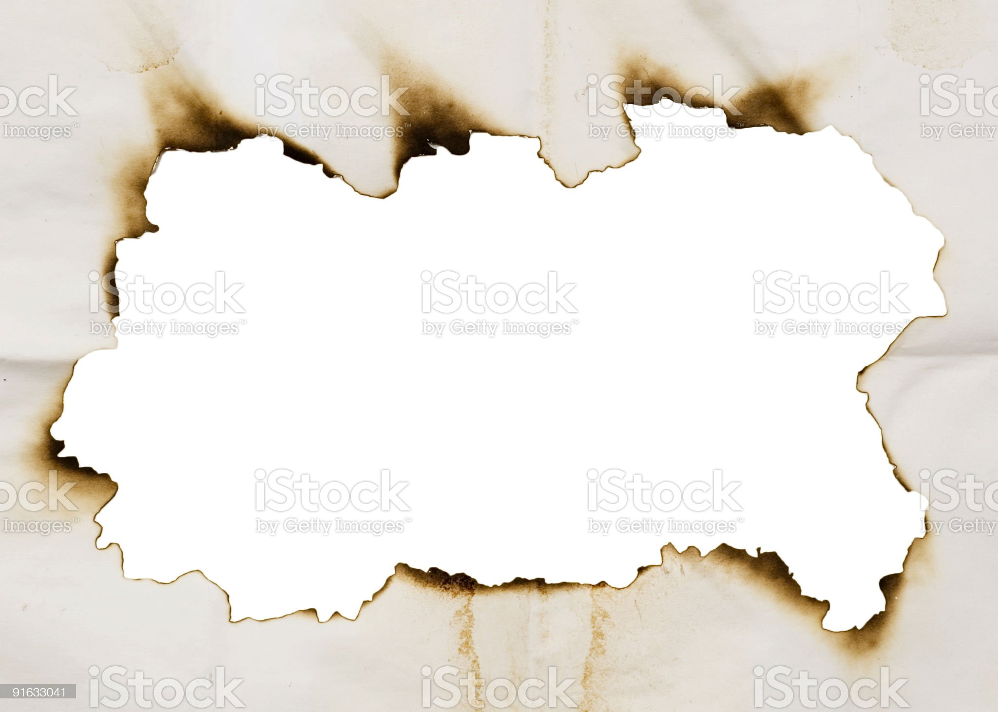burnt frame royalty-free stock photo