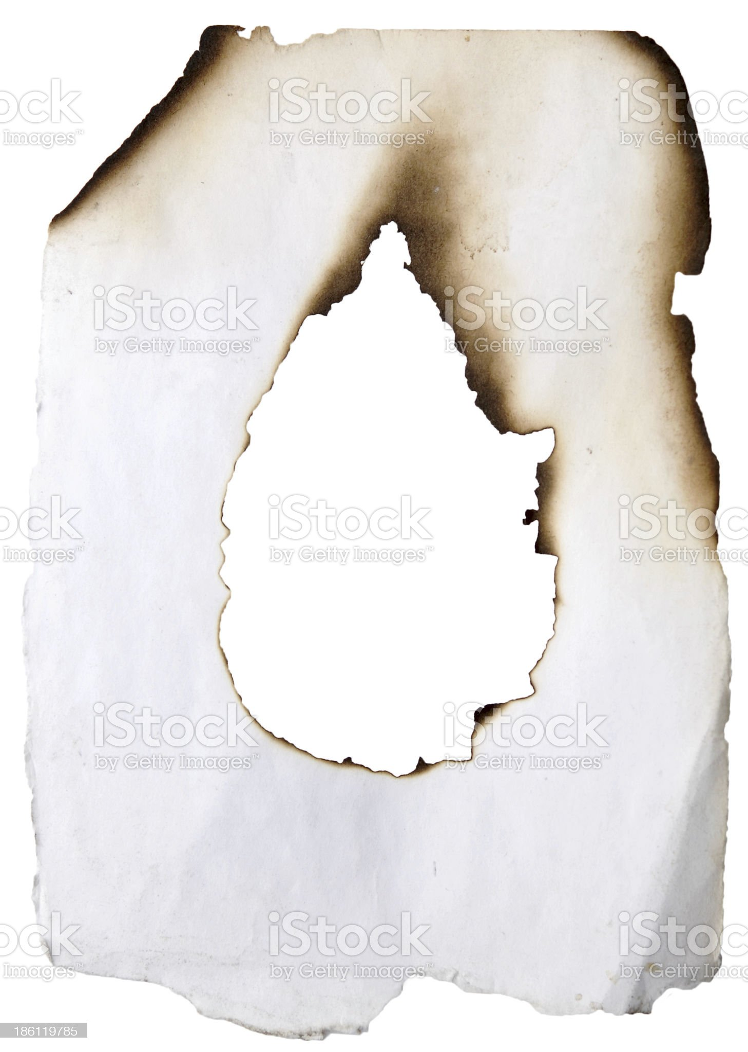 burnt hole royalty-free stock photo