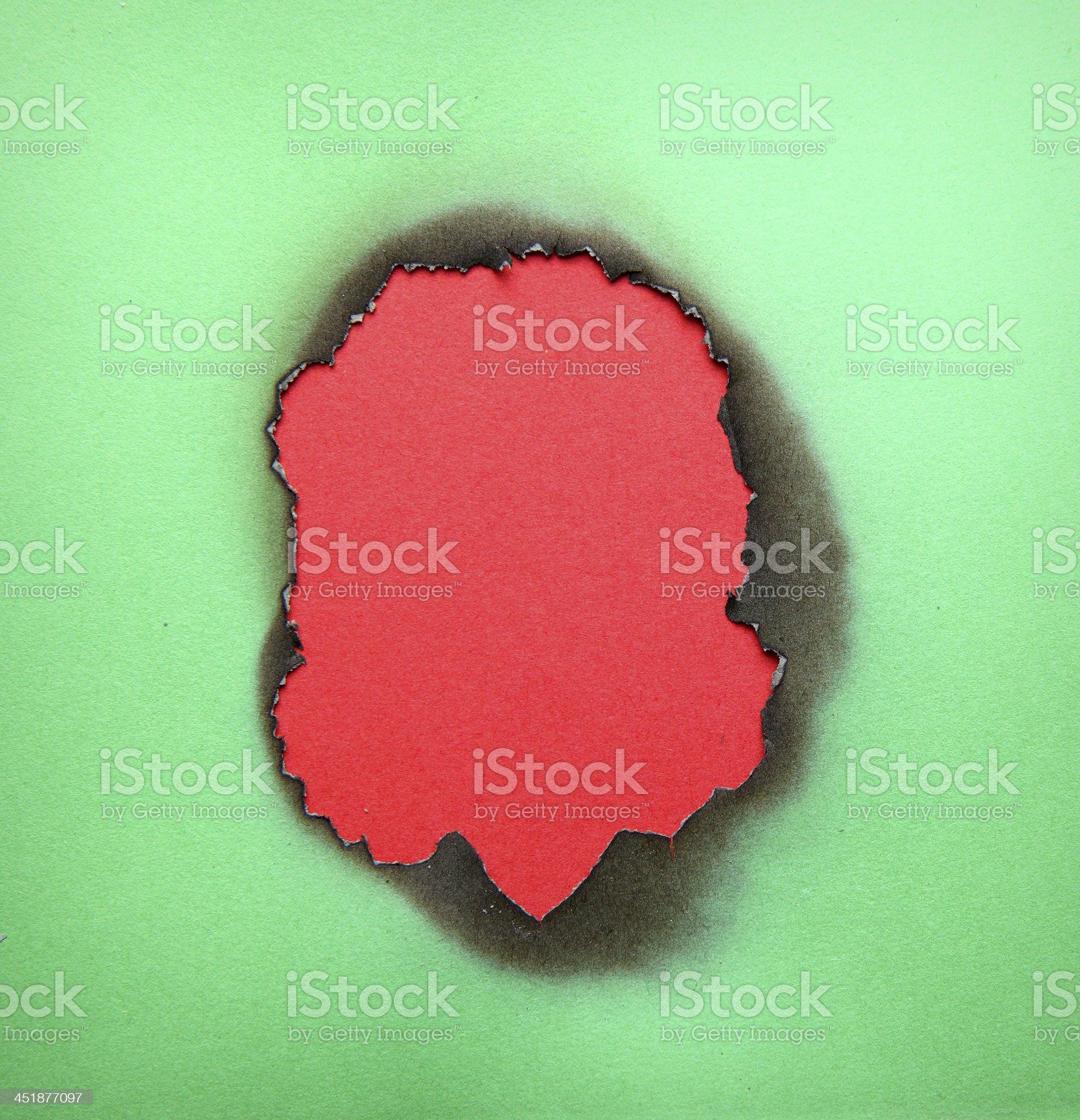 burnt hole royalty-free stock photo