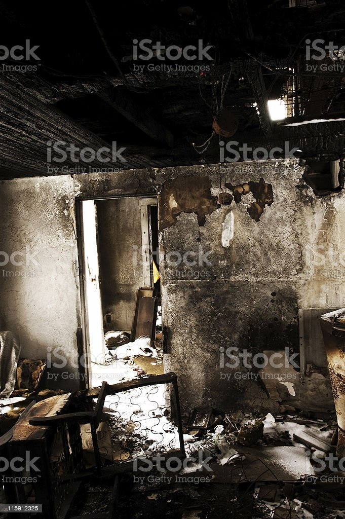 Burnt Interior royalty-free stock photo