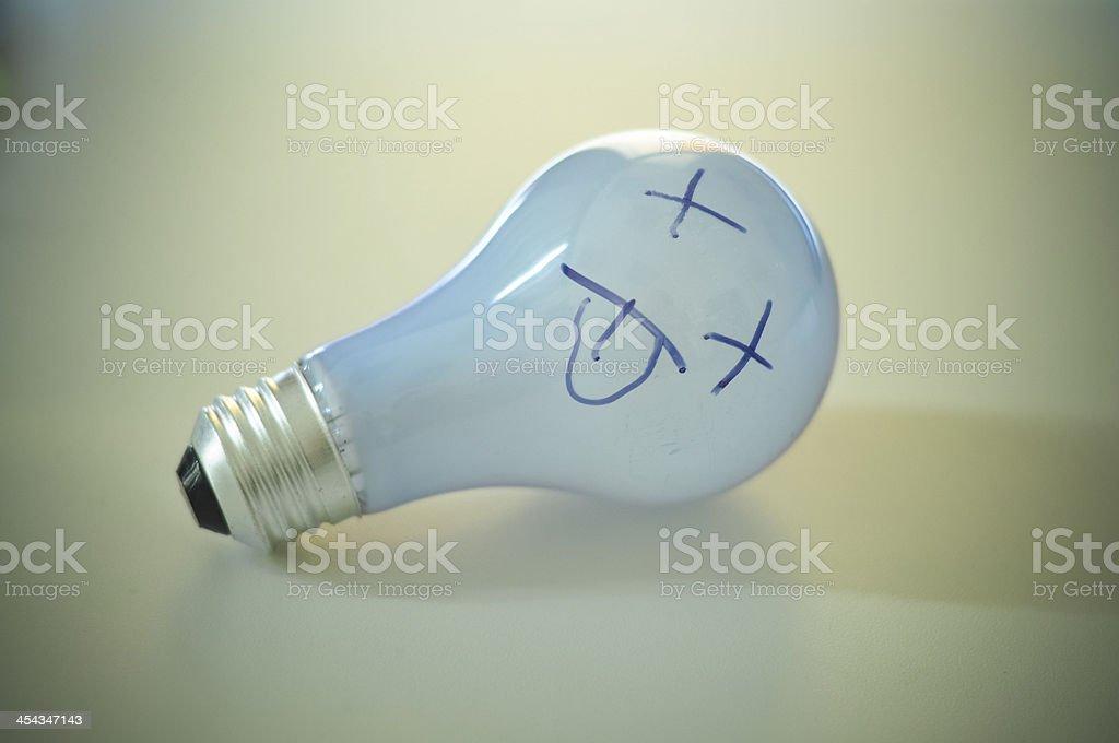 burnt light bulb royalty-free stock photo