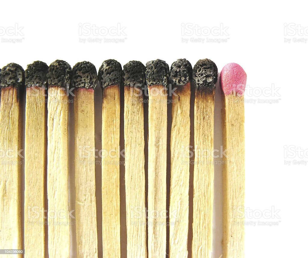 Burnt Matches and Last Chance royalty-free stock photo