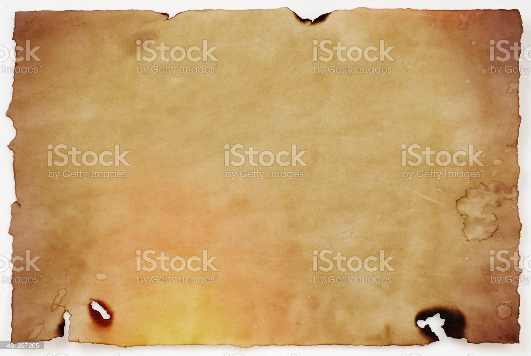Burnt old paper royalty-free stock photo