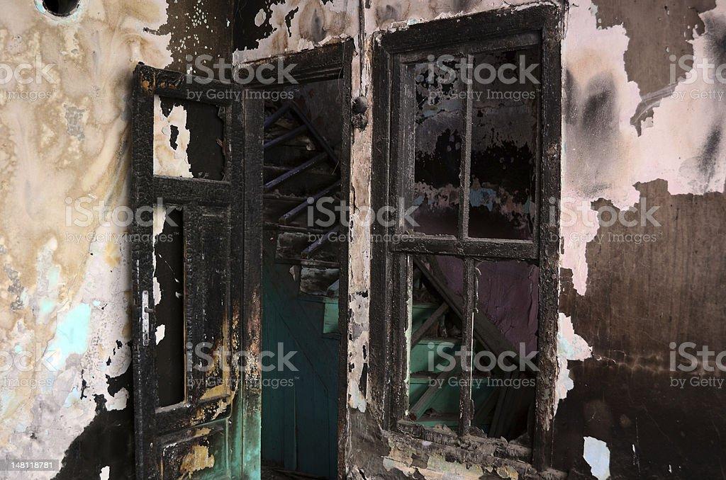 Burnt older house royalty-free stock photo