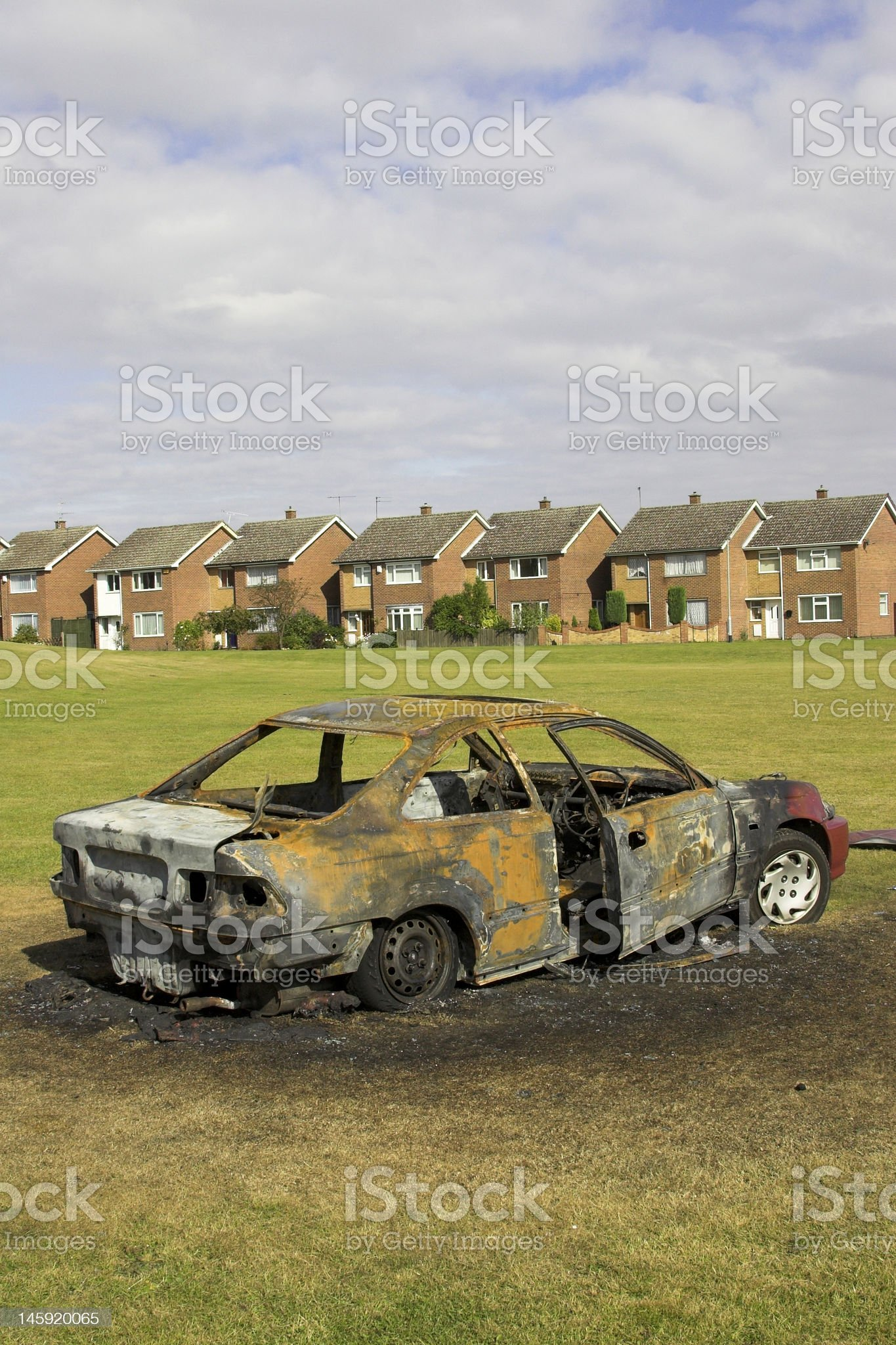 Burnt Out Car royalty-free stock photo