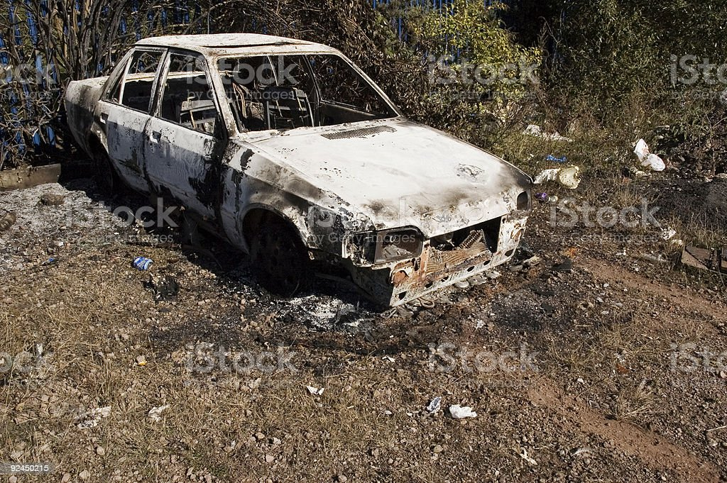 burnt out car #3 stock photo