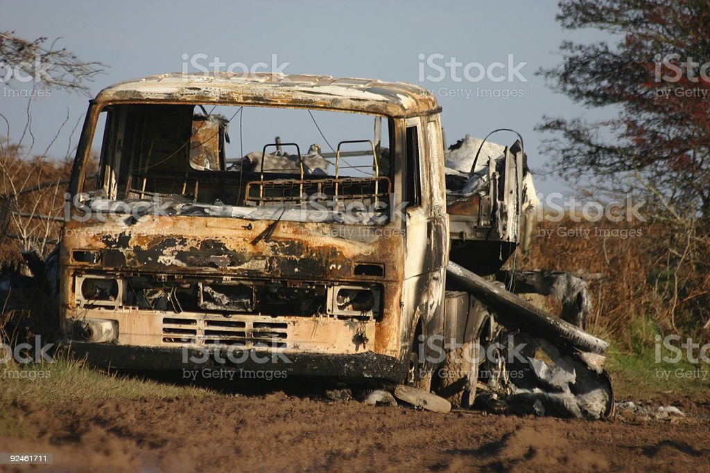 Burnt Out Truck 2 royalty-free stock photo