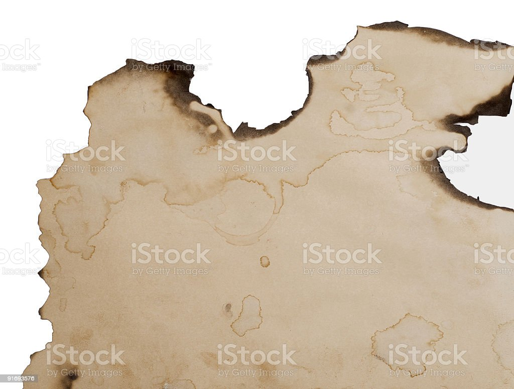 burnt paper edge background stock photo